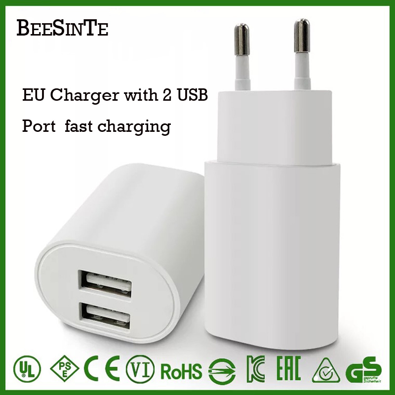 Universal USB phone Charger USB 2 0 5V 2A 2 4A with EU phone adapter usb otg for iphone samsung xiaomi huawei htc travel adapter in Mobile Phone Chargers from Cellphones Telecommunications