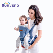 Sunveno Original New Ergonomic Baby Carrier Breathable Infant Backpack Stool Sling Hipseat Newborn Heaps Baby Kangaroo 20kg Wrap