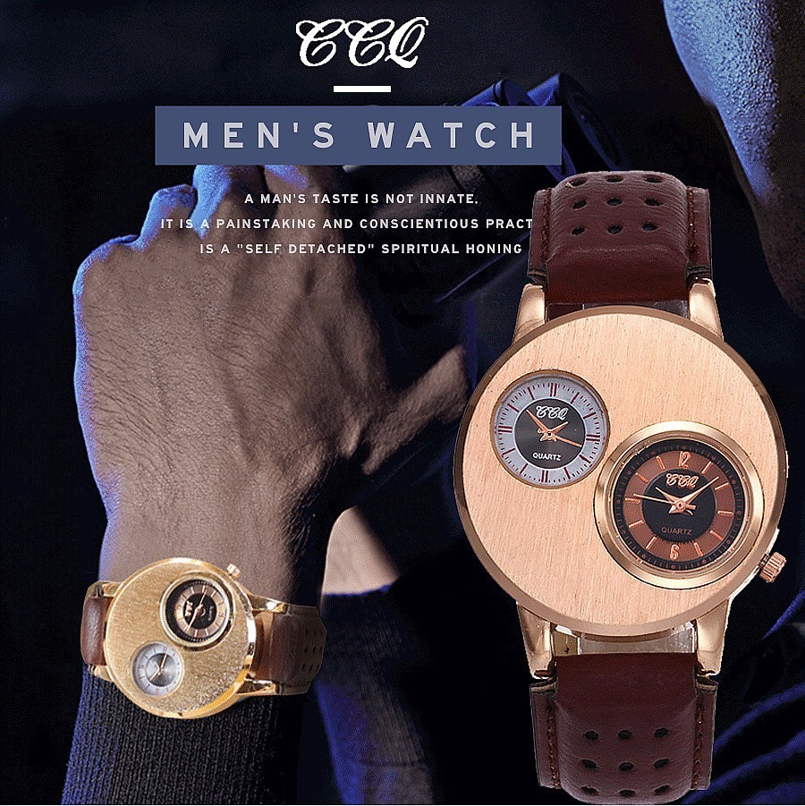 CCQ Band Luxury Mens Sport Watch Male Casual Quartz Wristwatches Leather Military Watch Clocks Gift Relogio Masculino