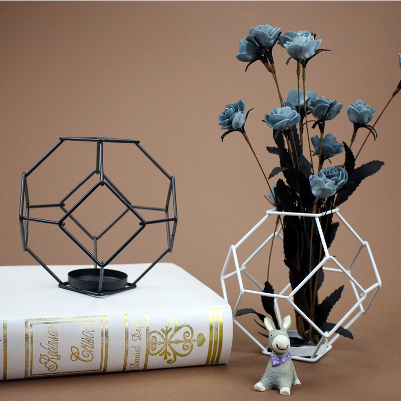 Modern Simple Iron Candlestick Figurines Ornaments Metal Candle Holder Rack Desktop Crafts Home Decor Accessories Wedding Gifts