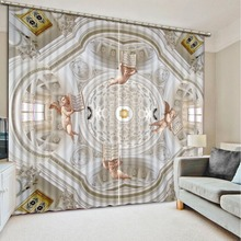High Quality Costom Modern angel 3D Window Curtains For Bedding room Home Decoration