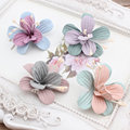 New Design 50pcs/lot Colorful Suede Cartoon Lilies Flowers Shape Handmade Microfiber Floral Diy Jewelry Garment/Hair ornaments