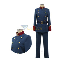 Anime Aldnoah Zero Surein Toroiyado High School Turtleneck Blue Uniform Cosplay Costume Custom Made Any Size Men Fashion Outfit custom made anime phoenix wright ryuichi naruhodo dress fashion uniform cosply costume shirt coat pants