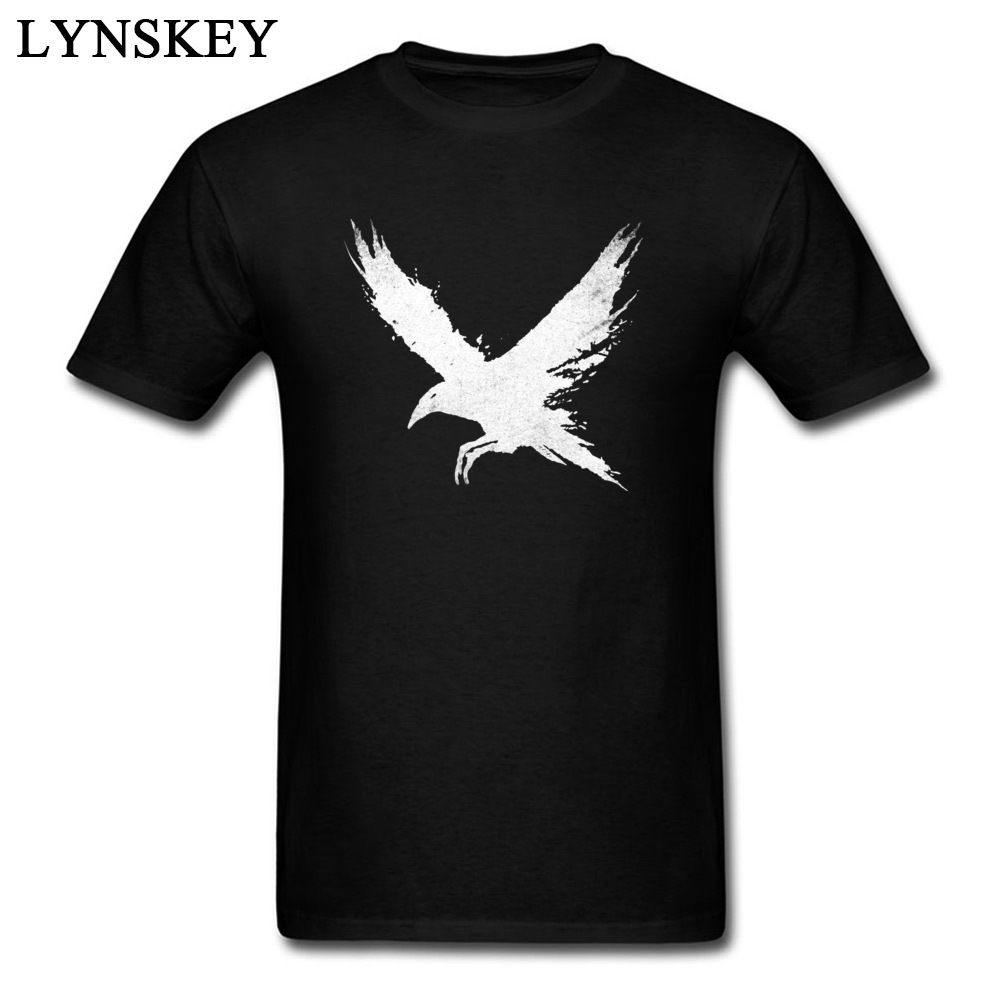 Men's Rock Band T-Shirt The Raven Men's Funny Design Crow Animal Tops/Tees Fashion 3D Print Casual Tees Shirts image