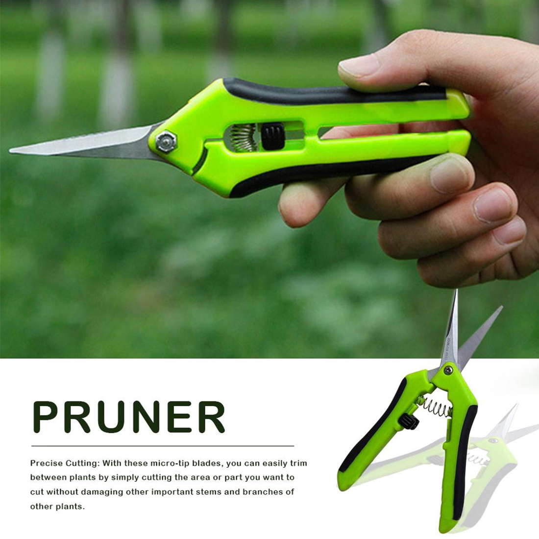 Fruit Picking Gardening Scissors made of Stainless Steel including Weeds and Branches Trimming 7
