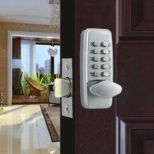 Zinc Alloy Keyless Door Lock Mechanical Combination Lock Waterproof Safety Door Lock Code Lock For Home Handle Door Hardware
