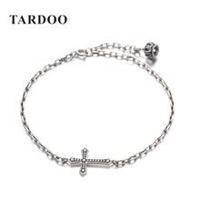 Tardoo Original 100% 925 Sterling Silver Bangle&Bracelet for Women Punk Style Crucifix &Lantern Sculpt Bangle Brand Fine Jewelry
