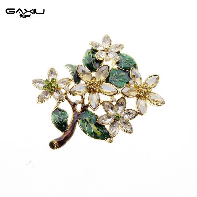 Vintage Brooch Jewelry Wishing Tree Shawl Buckle Super Elegant Genuine Flowers Brooch Gifts Beautiful Gift for Women Wedding