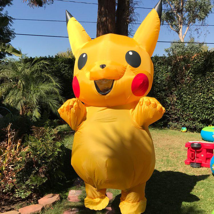 Inflatable Pikachu Cosplay carnaval kigurumi adult Pokemon costume halloween Fancy Dress for women Girls kids cosplay mascotte (3)
