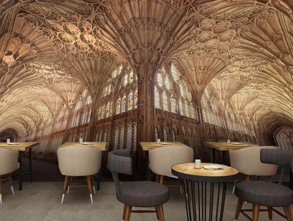 European style 3D Wall Wallpaper Building church Customized Mural For Living room And Bedroom Background Decoration european church square ceiling frescoes murals living room bedroom study paper 3d wallpaper
