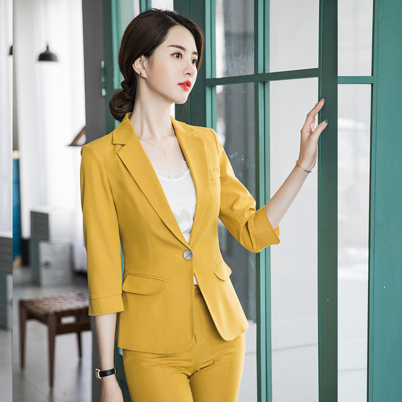 Suit Female Professional Wear 2019 Spring And Autumn New Fashion Temperament West Decoration Body Solid Color Women's Clothes