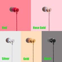 Venda quente do Fone de ouvido Fones de Ouvido Estéreo de Metal Baixo Fone de Ouvido Com Microfone para Xiaomi Redmi 2 Redmi2