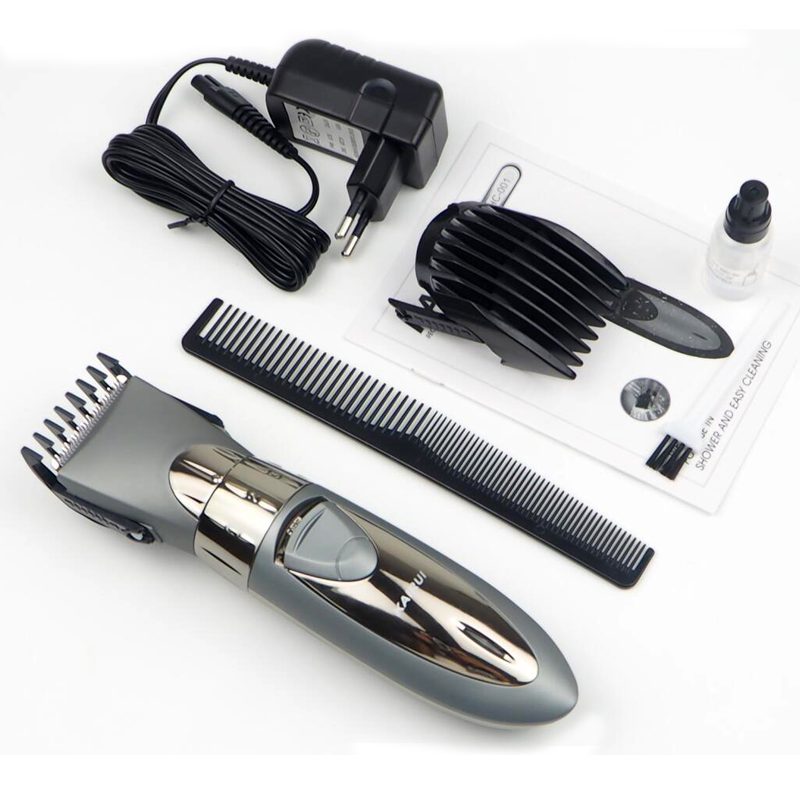 Electric Washable Hair Clipper Rechargeable Hair Trimmer Shaver Razor Cordless Adjustable Clipper Eu Plug electric washable hair clipper rechargeable hair trimmer shaver razor cordless adjustable clipper eu plug