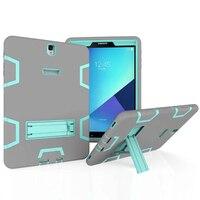Chống sốc Armor Case cho Samsung Galaxy Tab S3 9.7 T820 T825 Heavy Duty Chân Đế Silicone + PC Đứng Bìa Tablet trường hợp + Phim + Bút