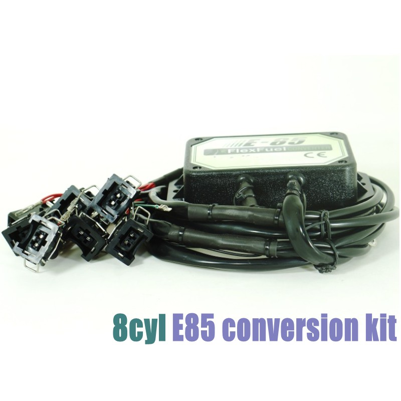 DHL Free 8cyl E85 Flex Fuel Conversion Kit With Cold Start Asst.,Temp.sensor,biofuel E85, Ethanol Car, Bioethanol Converter