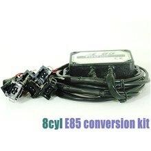 DHL Ücretsiz 8cyl E85 Flex Yakıt Dönüşüm Kiti Soğuk Başlangıç Yrd., Sıcaklık. sensör, biyoyakıt e85, etanol araba, biyoetanol dönüştürücü