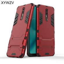 For OPPO F11 Case Shockproof Cover Armor Soft Silicone Rubber Hard PC Phone Case For OPPO F11 Back Cover For OPPO F11 Fundas oppo f11 case luxury robot armor rubber silicone slim hard pc phone case for oppo f11 back cover for oppo f11 kickstand fundas