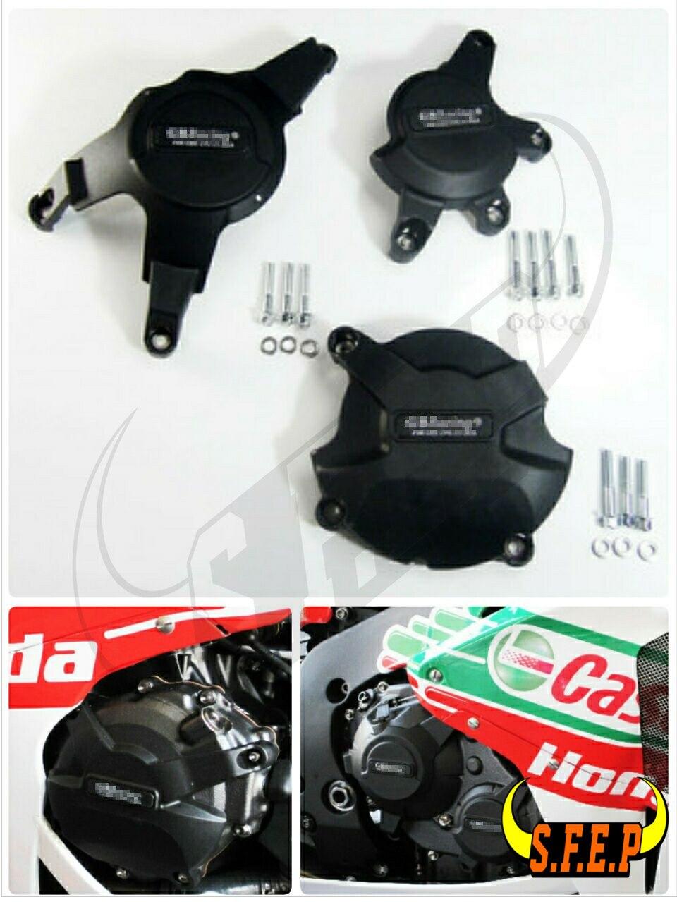 Мотоцикл Двигатель Чехол гвардии Protector Обложка ГБ гонки для Honda CBR1000RR 2008-2009-2010-11-12-13-14-15-16 черный