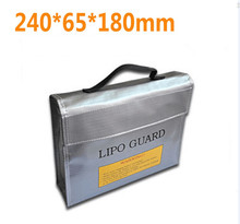 F16390 /92 High Quality Fireproof Explosionproof RC LiPo Battery Safety Bag Safe Guard Charge Sack 240 * 180 * 65 mm L M S size(China)