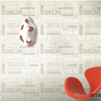 Papel Parede New Fashion 3D Non Woven Letter Design Wallpaper Modern Wallpapers Living Room Papel Pintado