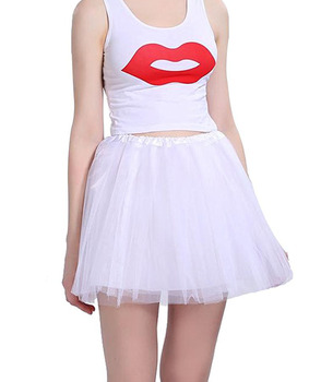 Mother and daughter Skirt Rainbow Tulle Skirt Carnival Petticoat Mesh Mini Tutu Skirts Candy Color Kinderfasching Faschingsparty 4