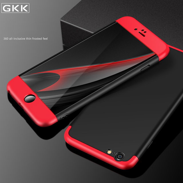 separation shoes fbe96 f5436 US $31.2 |10PCS GKK Brand 3 In 1 Case For iPhone 7 6S 6 Plus Full Body  Protection Ultra Thin Matte Case For iPhone 5 5S SE Back Cover-in Fitted  Cases ...