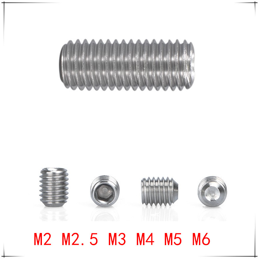 12mm to 85mm M10 x 1.25 Hex Set Screws A2 Stainless Multi Listing