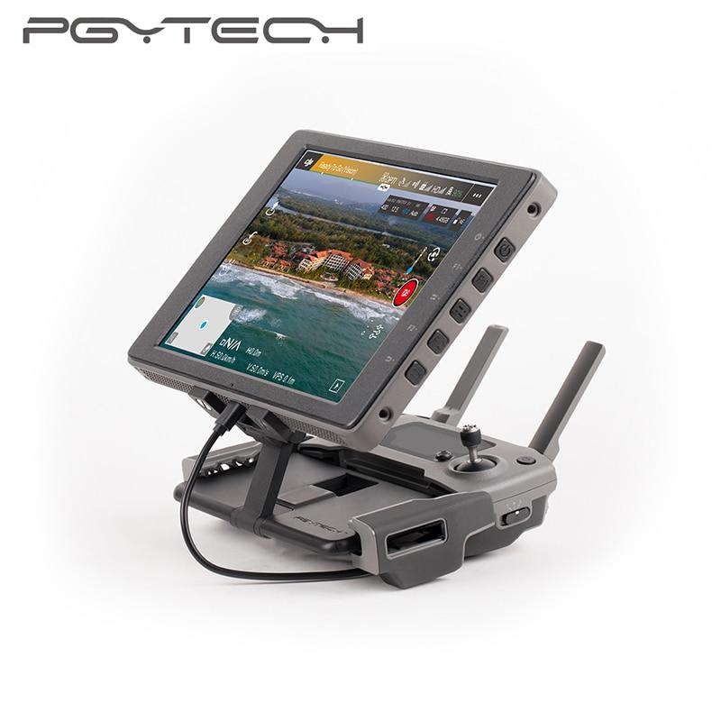 PGYTECH cristalsky support de montage pour DJI Mavic 2 télécommande moniteur support clip de fixation aluminium pour MAVIC Pro Spark