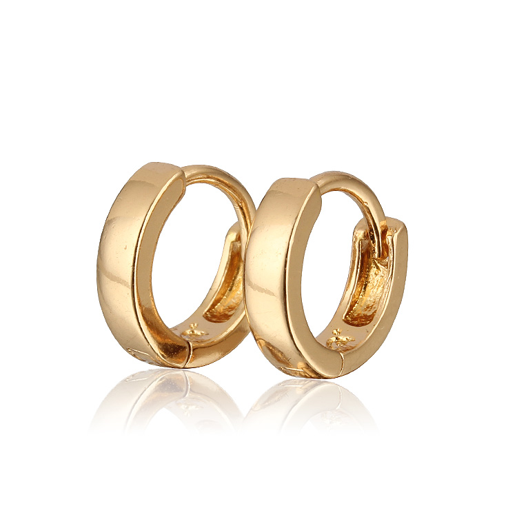 (E18K-09)Copper with 18K gold plated hoop earrings, Free shipping vitaly ring