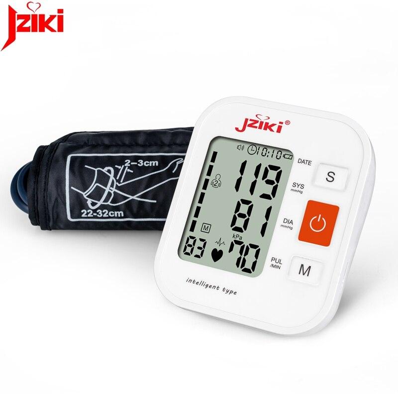 JZIKI Digital Upper Arm Blood Pressure Monitors tonometer Portable health care bp Blood Pressure Monitor meters