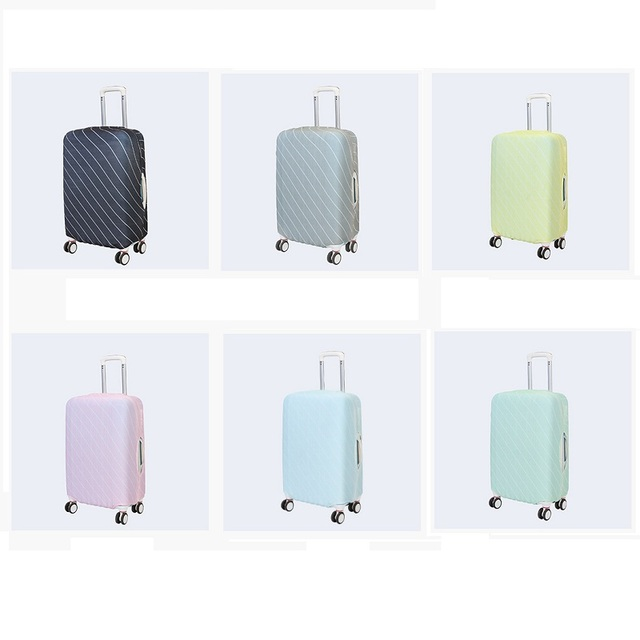 2018 travel accessories elastic luggage cover cover suitcase protective travel case cover dust-proof striped pattern solid color