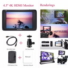 Feelworld S450-M 4.5» SDI/4K HDMI Input On-Camera Monitor Full HD Screen Video Display 3G-SDI Output Video Monitor for Camera