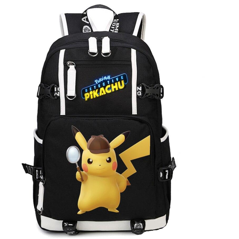 100% Wahr Pokemon Film Detektiv Pikachu Rucksack Mochila Druck Rucksäcke Reisen Knapsack Schule Tasche Für Jugendliche Laptop Bagpack Schrumpffrei