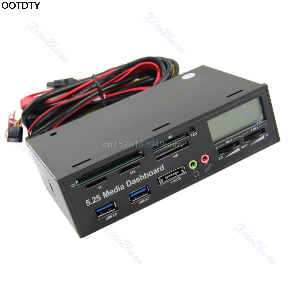 USB 3.0 All-in-1 5.25 Muiti-function Media Dashboard Front Panel ##  New Hot