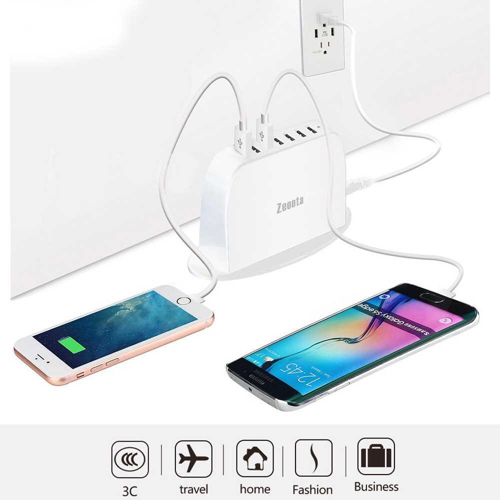 Wielu ładowarka do telefonu na USB stacja dokująca 7 portowy HUB USB ładowarka podróżna zasilacz z ue/US/UK wtyczka do iPhone'a z systemem android