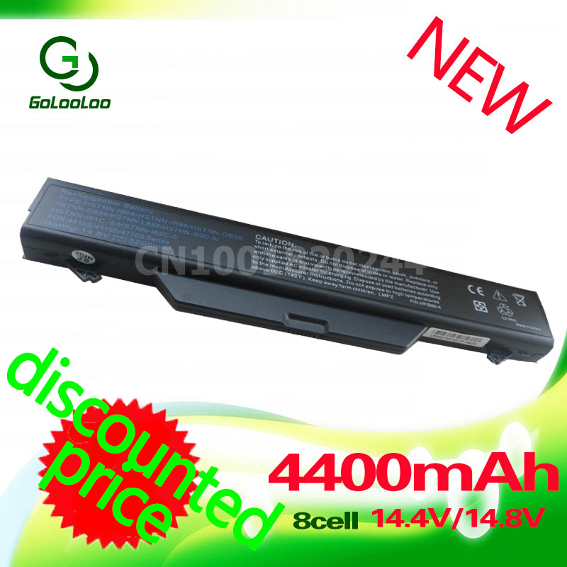 Golooloo 8 cellules 4400 mah 14.4 v Batterie D'ordinateur Portable pour HP ProBook 4510 s 4515 s 4710 s 591998- 141 593576-001 HSTNN-1B1D HSTNN-IB89
