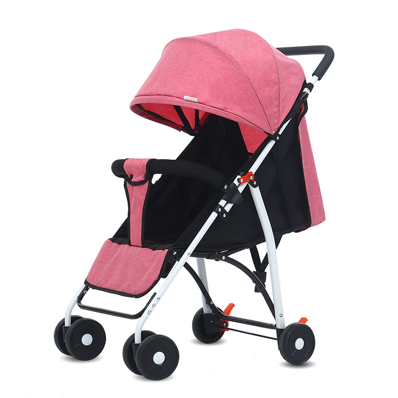 Wholesale Baby Stroller Folding Portable Ultra Light Multifunctional Umbrella Car Can Lie On The Babys Four Wheeled Cart.