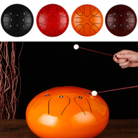 1213Steel Tongue Drum Professional Empty Drumstick Stick Percussion religion Instrument Yoga Natural Musical Note Handpan GU28
