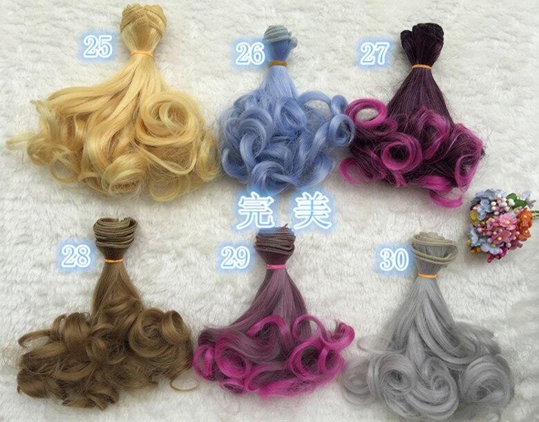 Peluca de cabello liso para niña, accesorios de muñeca BJD, multicolor, Lolita, 15x100cm, 44 colores, 1 Uds.