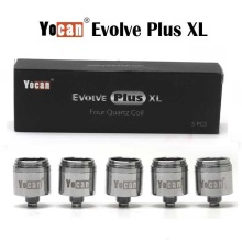 5PCS/Pack Yocan Evolve Plus  XL Coil Quartz Dual (QDC) Head For Kit Vaporizer Electronic Cigarette