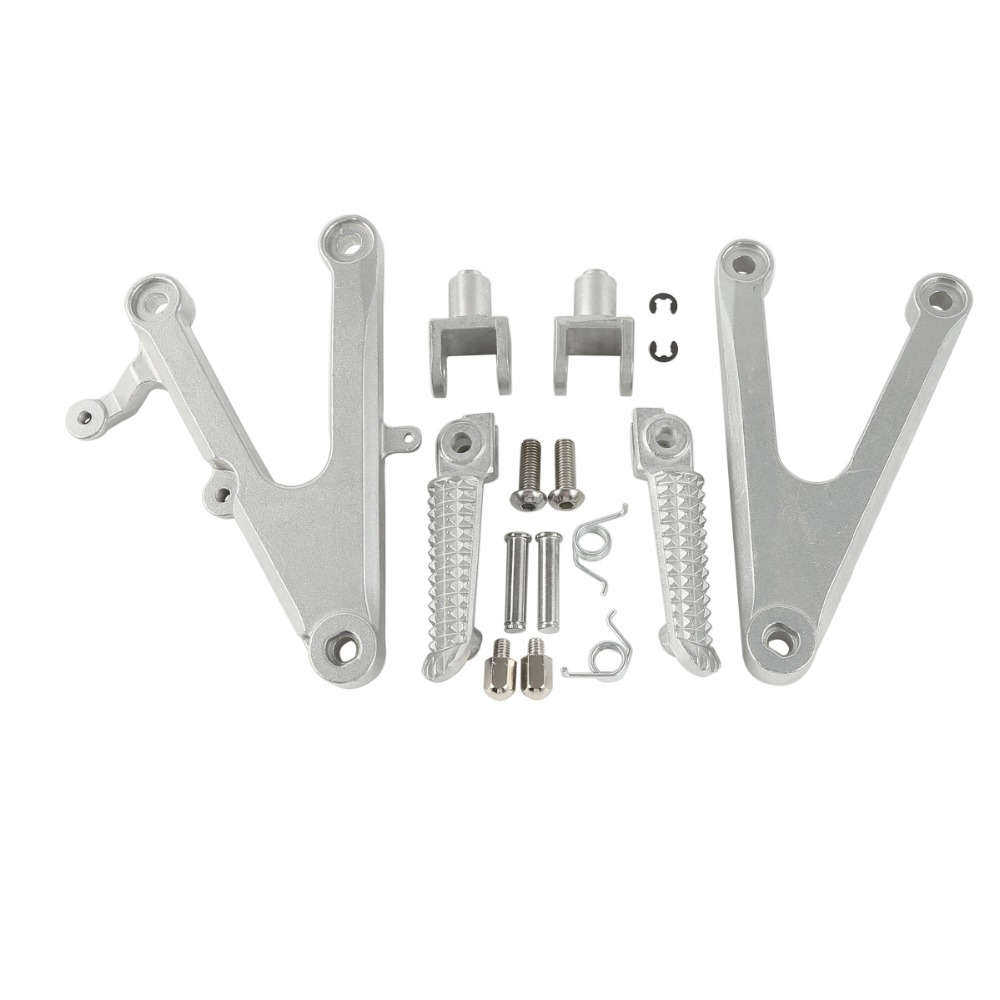 Motorcycle Front Foot Pegs Footrest Brackets For Yamaha YZF R1 2002 2003 02 03