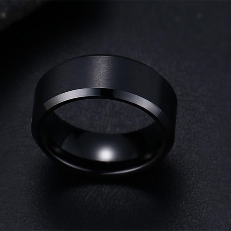 Мода 2017, очаровательное Ювелирное кольцо, мужские черные кольца из нержавеющей стали для женщин 4