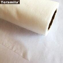 50 см x 110 см/шт. Лоскутная прокладочная ткань telas двусторонняя клейкая лента стеганая ткань кремовый белый ватин аксессуар
