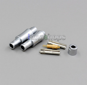2pcs Custom Male headphone Pins For sennheiser HD800 D1000 HD802 HD802s Cable DIY Connectors Adapter LN004010(China)
