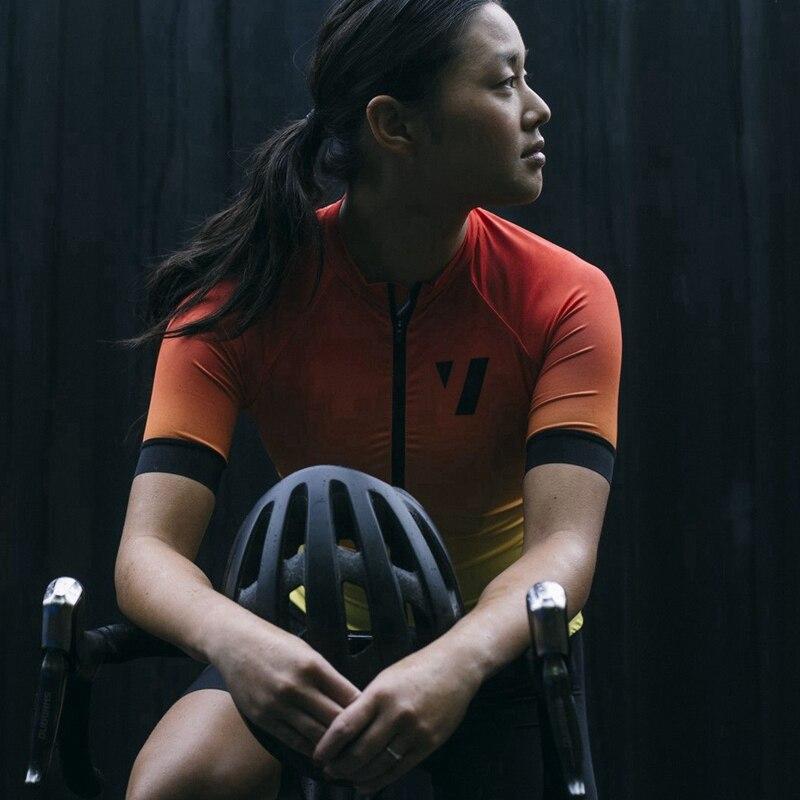 VAZIO mulheres ciclismo jersey 2017 Superlight MTB corrida fit menina bonita orange ciclismo roupas de ciclismo leve Damen Radsport Shir