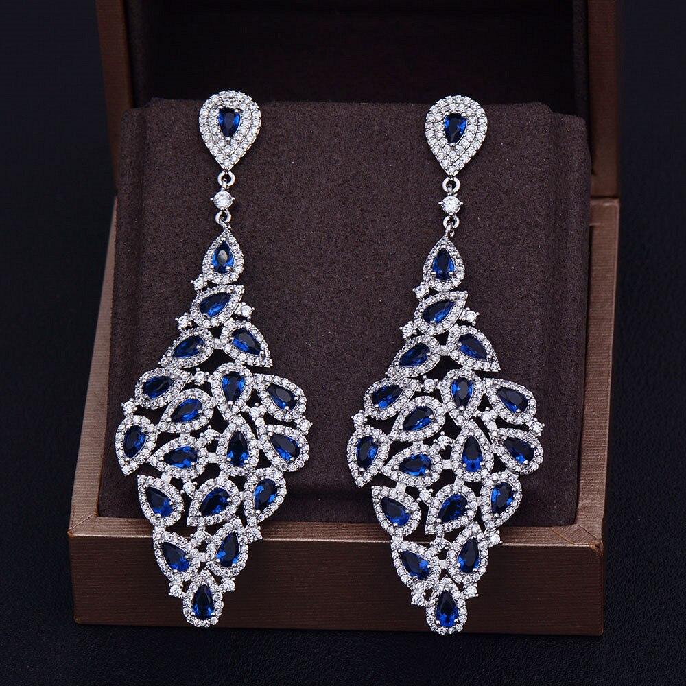 GODKI Brand New Luxury Fashion Luxury Pear Cut Cubic Zirconia Anniversary Dress Party Bridal Earrings camay твердое мыло романтик 90 гр