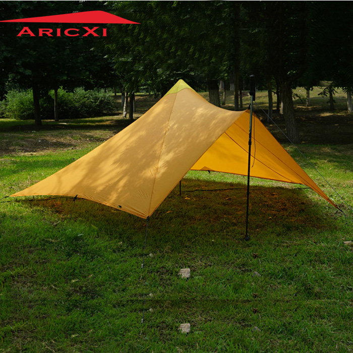 Outdoor Ultralight 1-2 Person 20D Nylon Both Sides Silicon Pyramid shelter tent for hiking camping 1240g camping tent ultralight 6 8 person outdoor 20d nylon both sides silicon coating rodless large space tent triangle 4 season