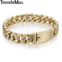 CUSTOMIZED 11mm Smooth Curb Cuban Mens Boys Chain Silver Tone 316L Stainless Steel Bracelet Wholesale Jewelry