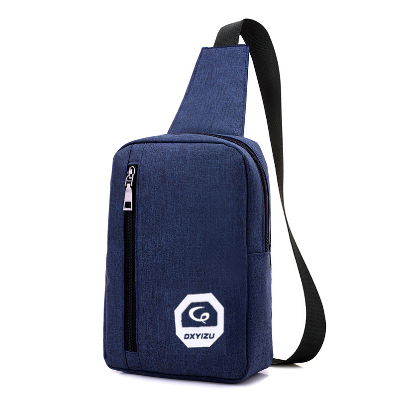 Canvas Waterproof Chest Bags Big Capacity Black Messenger Cell Phone Waist Bags Small Shoulder Messenger Bags