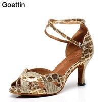 2017 New Brand Goettin 7091 High Quality Latin Dance Shoes Women Lady Dance Shoes